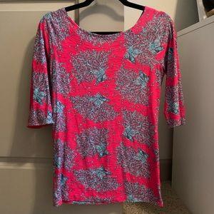 Lilly Pulitzer 3/4 Length Shirt